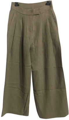 Dusan Anthracite Linen Trousers for Women