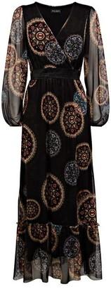James Lakeland Sheer Sleeve Boho Dress