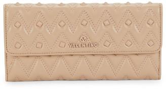 Mario Valentino Julius Sauvage Rockstud Quilted Clutch Wallet
