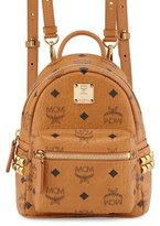 MCM Stark X-Mini Side Stud Backpack, Cognac