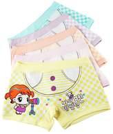 Aivtalk Cartoon Organic Cotton Stretch Moisture Permeability Printing 5 Pack Girls Underwear Boxer Briefs Panties Size 4T