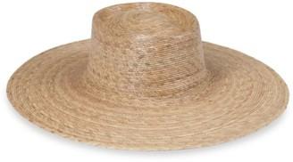 LACK OF COLOR Palma Woven Wide-Brim Boater Hat