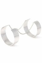 Vanessa Mooney Anarchy Double Cuff in Silver