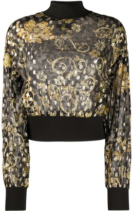 Versace Jeans Couture Baroque Polka Dot Print Jumper