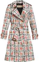 Burberry Scribble Check tench coat