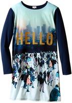 Paul Smith Printed Hello Tee Shirtdress Girl's Dress