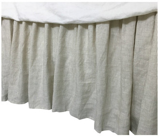 "Superior Custom Linens Linen Ticking Striped Bedskirt, Striped Dust Ruffle, King 15"" Drop"