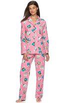 Women's Star & Skye Pajamas: Flannel Notch PJ Set