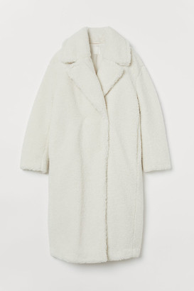 H&M Faux Shearling Coat - White