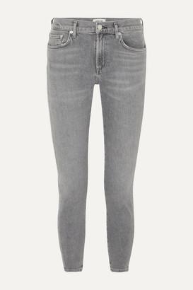 A Gold E Agolde AGOLDE - Toni Mid-rise Straight-leg Jeans - Gray