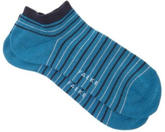 Falke Metallic Striped Cotton-blend Ankle Socks - Womens - Blue Multi