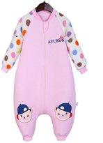 Aivtalk Baby Spring Cotton Sleeping Sack Sleep Bag with Removable Sleeve