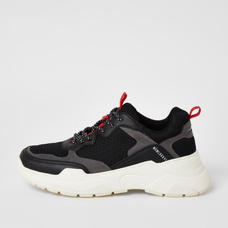 River Island MCMLX black lace-up chunky trainers