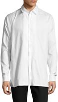 Maison Margiela Men's Solid Pleated Dress Shirt