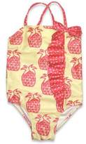 sol swim® 1-Piece Pineapple Swimsuit in Yellow/Pink