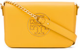 Tory Burch logo stamp shoulder bag - women - Leather - One Size