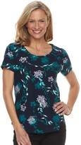 Croft & Barrow Women's Floral Scoopneck Tee