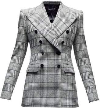 Dolce & Gabbana Double Breasted Glen Checked Twill Blazer - Womens - Grey Multi