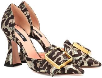 Rochas Leopard brocade pumps
