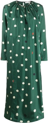 Chinti and Parker Long Polka Dot Dress