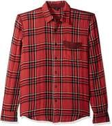 Joe's Jeans Men's Double Woven Plaid Blase Shirt