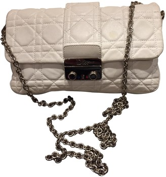 Christian Dior Miss White Leather Handbags