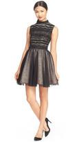 Alice + Olivia Taya Embellished Fit & Flare Dress