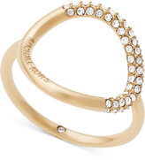 Michael Kors Gold-Tone Pavé Crystal Open Circle Statement Ring