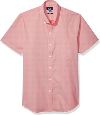 Cutter & Buck Men's Short Sleeve Strive Dit-Dat Print Button Up Shirt