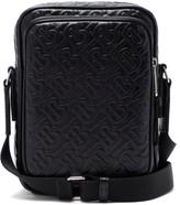 Burberry Logo-embossed Leather Cross-body Bag - Mens - Black