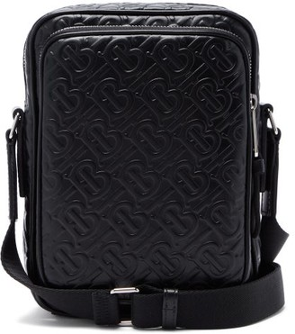 Burberry Logo-embossed Leather Cross-body Bag - Black