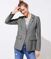 LOFT Textured Long Blazer