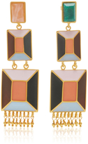 Paula Mendoza Hexagon Stone Earrings
