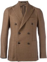 Tagliatore peaked lapels double-breasted coat