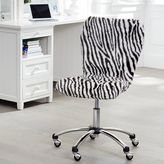 STUDY Zebra Fur Airgo Arm + Armless Chair