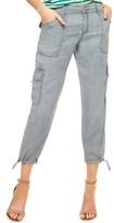 Sanctuary Women's Terrain Crop Chambray Cargo Pants
