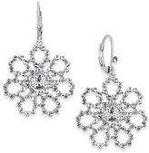 Kate Spade Silver-Tone Flower Drop Earrings