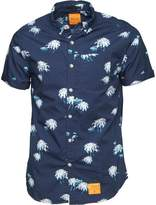 Superdry Mens Southbank Surf Shirt Miami Palms Blue