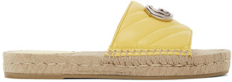 Gucci Yellow GG Espadrille Sandals