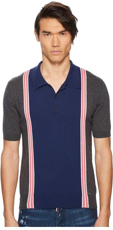 DSQUARED2 Striped Sweater Polo