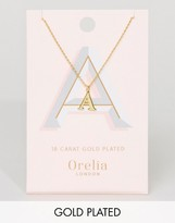 Orelia Gold Plated Large A Initial Necklace
