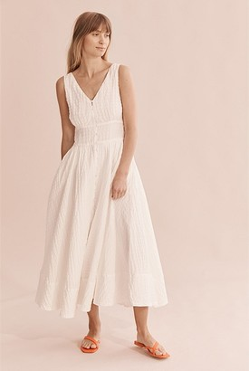 Country Road Textured Midi Dress