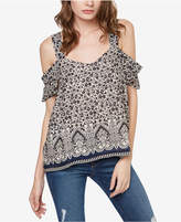 Sanctuary Printed Cold-Shoulder Top