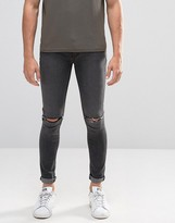 Criminal Damage Super Skinny Jeans With Knee Rips