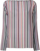 Theory boat neck striped blouse