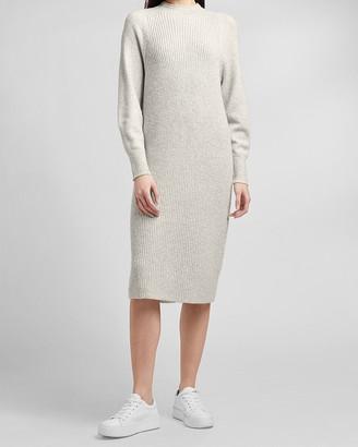 Express Ribbed Mock Neck Sweater Dress