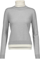ADAM by Adam Lippes Two-tone merino wool turtleneck sweater