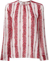 Giambattista Valli floral long-sleeve blouse