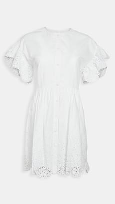 La Vie Rebecca Taylor Short Sleeve Eyelet Dress