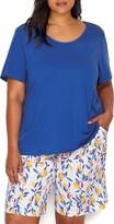 Thumbnail for your product : Karen Neuburger Women's Petite Top and Bottom Pajama Set Pj with Sweat Wicking Technology